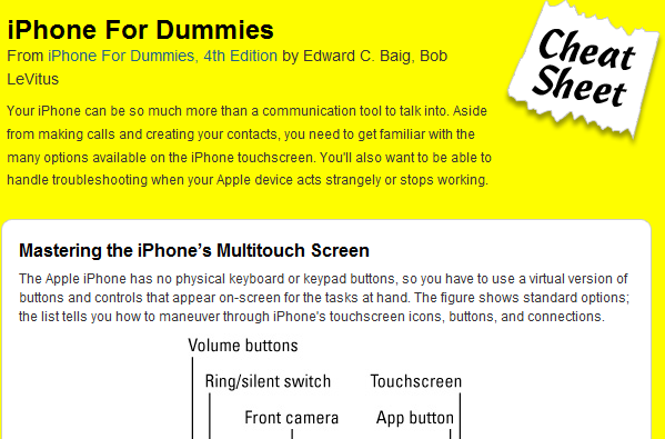 5 Must See iPhone Cheat Sheets
