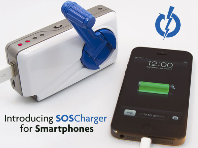 SOSCharger Self-Powered iPhone Charger, Apple iRadio By Summer?
