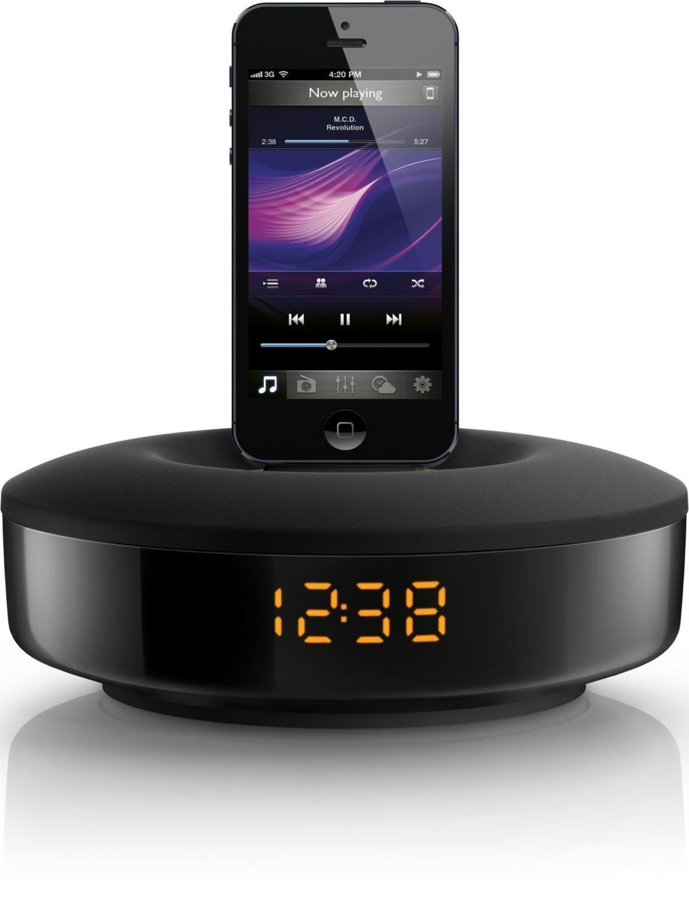 7 iphone 5 alarm clocks with lightning connector iphoneness. Black Bedroom Furniture Sets. Home Design Ideas