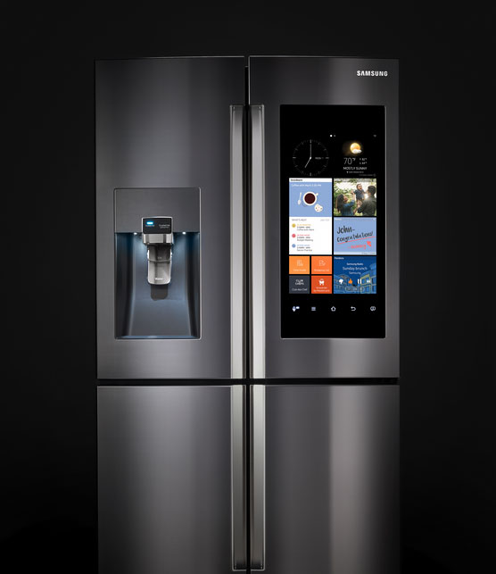 samsung family hub smart refrigerator iphoneness. Black Bedroom Furniture Sets. Home Design Ideas
