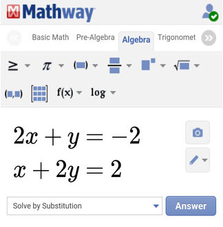 Free math problem solver answers your algebra homework questions with step-by-step explanations.