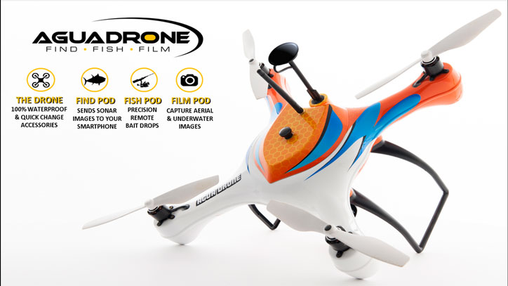 Aguadrone waterproof drone for fishing iphoneness for Best drone for fishing